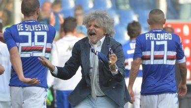 Calcio: Sampdoria; Ferrero show, balla sul campo da solo