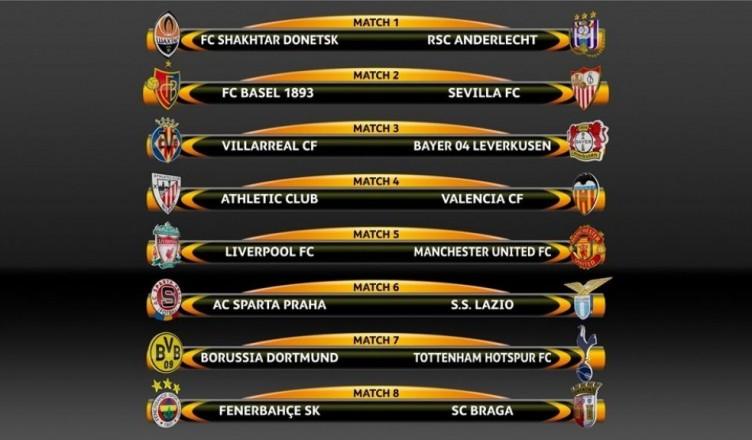 liga europy 1/8 finału