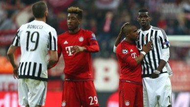 during the UEFA Champions League round of 16, second Leg match between FC Bayern Muenchen and Juventus at the Allianz Arena on March 16, 2016 in Munich, Germany.