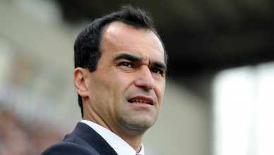 WIGAN, ENGLAND - MAY 13:  Wigan Athletic manager Roberto Martinez looks on during the Barclays Premier League match between Wigan Athletic and Wolverhampton Wanderers at DW Stadium on May 13, 2012 in Wigan, England.  (Photo by Chris Brunskill/Getty Images)