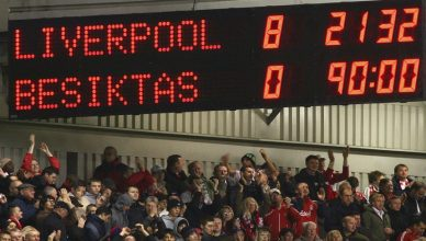 LIVERPOOL, UNITED KINGDOM - NOVEMBER 06:  General view of a scoreboard displaying the final score at the end of the UEFA Champions League Group A match between Liverpool and Besiktas at Anfield on November 6, 2007 in Liverpool, England.  (Photo by Alex Livesey/Getty Images)