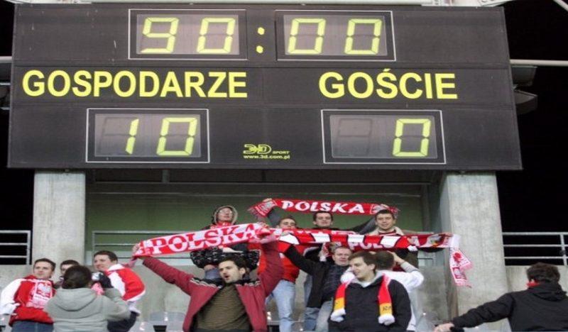 8 najwyższych zwycięstw reprezentacji Polski