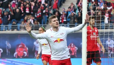 RB Leipzig - Mainz / Fu§ball Bundesliga Leipzig, 06.11.2016, Red Bull Arena, Fu§ball, GER, 1.BL, 10. Spieltag , RB Leipzig vs. 1.FSV Mainz 05 3:1 (3:0) , Im Bild: Timo Werner (RB Leipzig), Torjubel nach seinem Treffer zum 1:0. ,  RB Leipzig Mainz  Bundesliga Leipzig 06 11 2016 Red Bull Arena  ger 1 BL 10 Matchday RB Leipzig vs 1 FSV Mainz 05 3 1 3 0 in Picture Timo Werner RB Leipzig goal celebration After his Results to 1 0