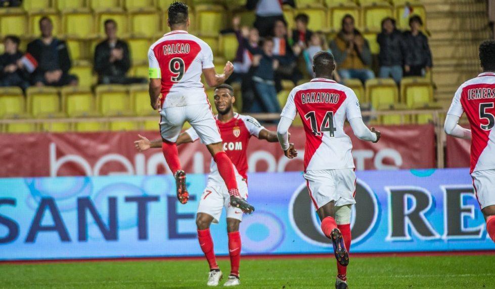 Monaco goal celebration