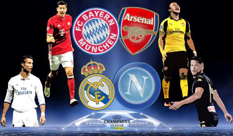 Round of 16 UEFA Champions League 15 lutego 2017 - foto główne