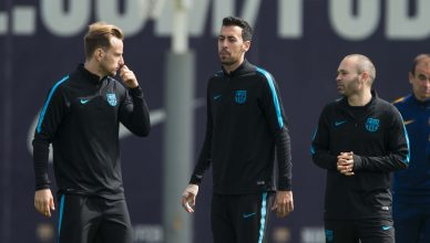 Entreno Barcelona Champions