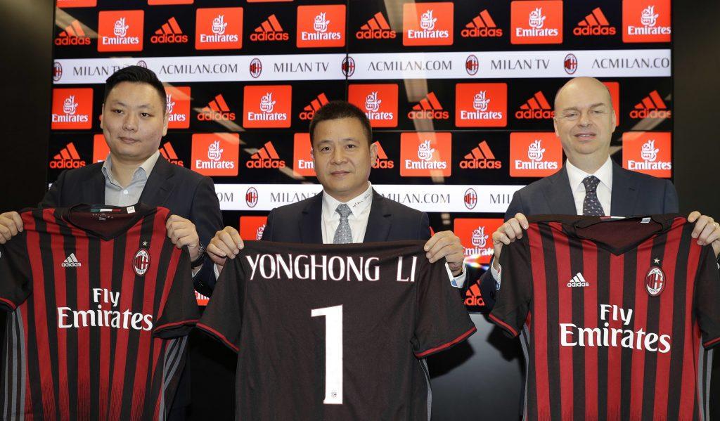 AC Milan Fassone Yonghong Li