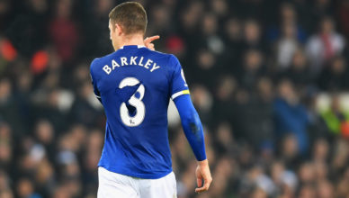 Ross Barkley in Everton v Liverpool game in Premier League