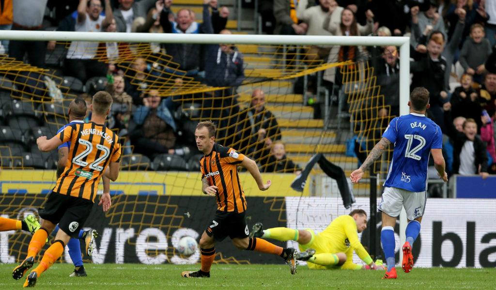 Hull City's Kamil Grosicki scores the 4th goal