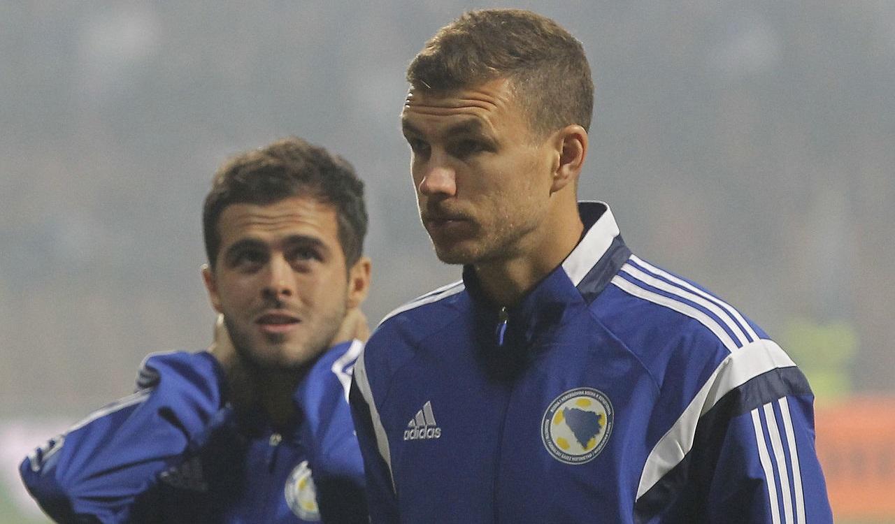 Dzeko and Pjanic