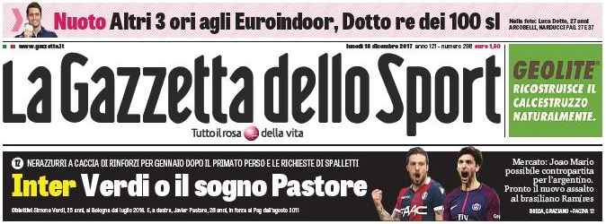 Źródło: www.gazzetta.it
