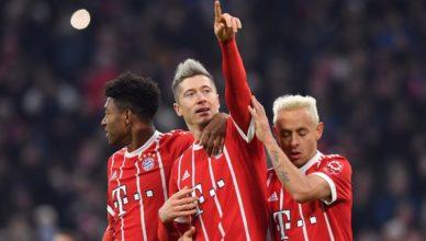 Lewandowski po golu z Hannoverem