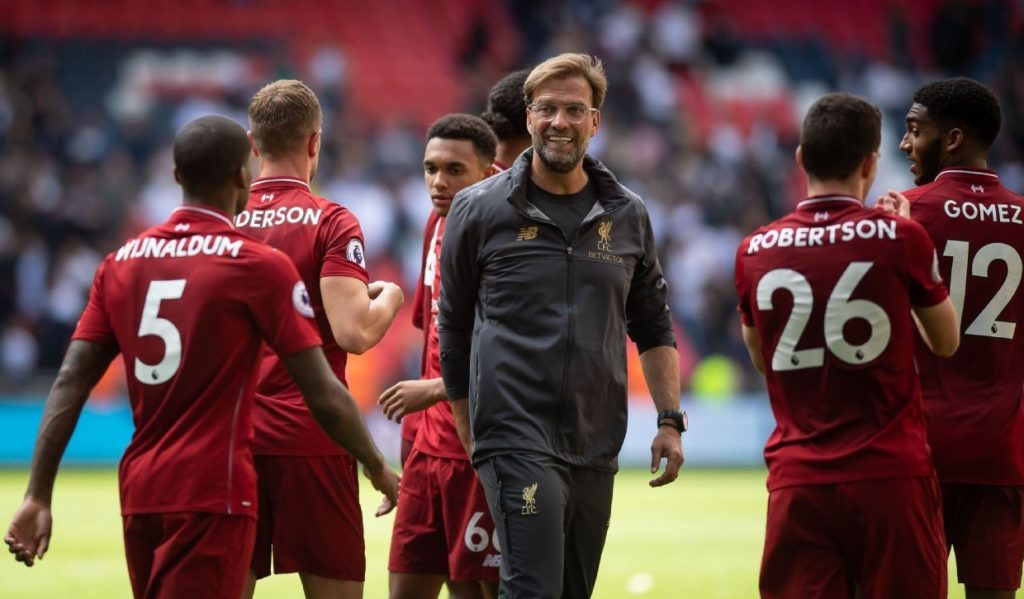 Liverpool and Klopp after win at Wembley vs Tottenham