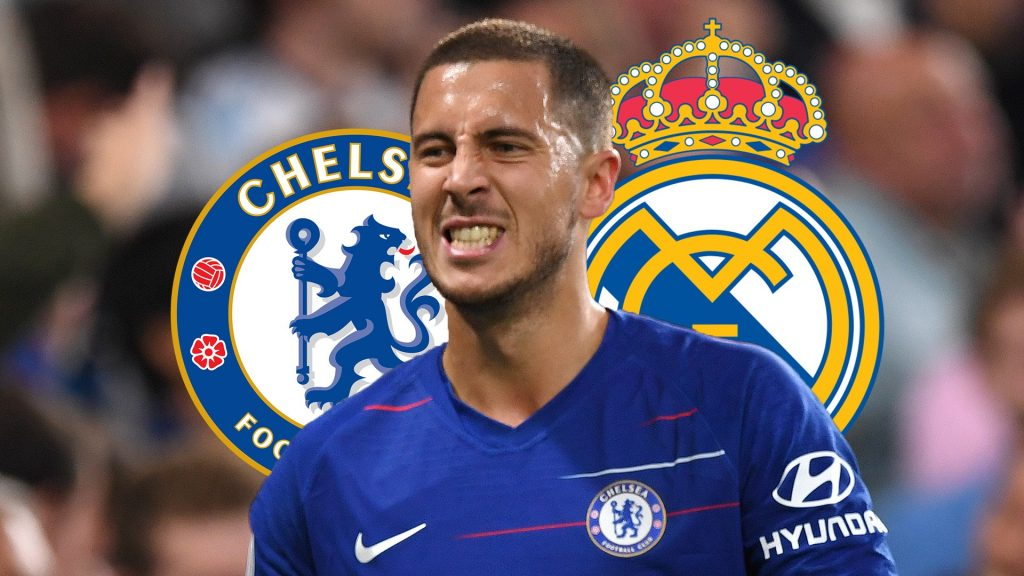 LONDON, ENGLAND - SEPTEMBER 29:  Eden Hazard of Chelsea gestures during the Premier League match between Chelsea FC and Liverpool FC at Stamford Bridge on September 29, 2018 in London, United Kingdom.  (Photo by Shaun Botterill/Getty Images)