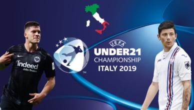 EURO U21 Italy San Marino 2019 grafika