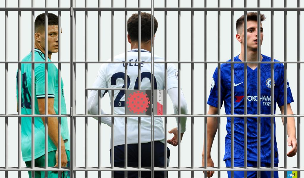 Piłkarze, którzy złamali zasady kwarantanny - grafika